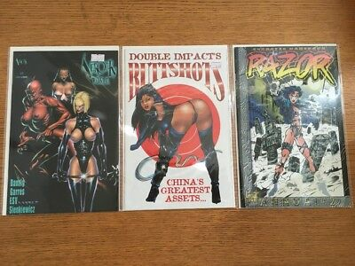 Lot Of 3 Adults Only Themed Comic Books Verotik High Impact London Night VF