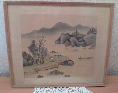 Vintage Silk Chinese Painting