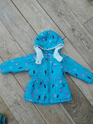 Lovely Girl NEXT bunny coat 12 to 18 months