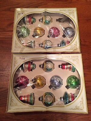 Vintage Lot Of 19 Shiny Brite Christmas Ball Glass Ornaments