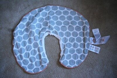 Never Used BOPPY Nursing Pillow Cover, White + Grey, Elephant Picture