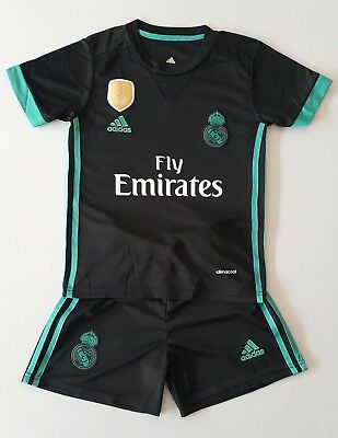 Real Madrid Away Kinder Trikot  Set, 2017/18, Gr.7, Neu