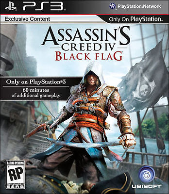 Assassins Creed IV / AC 4 - Black Flag - SONY PlayStation 3 PS3 Action/Adventure