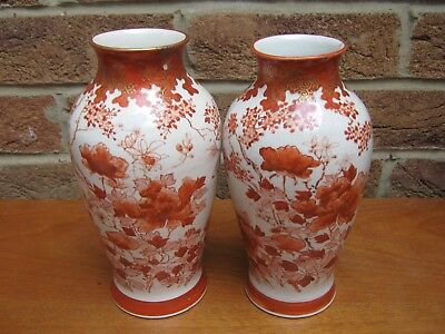 Pair Of Antique Japanese Vases Signed To Base