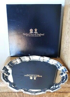 SUPERB VINTAGE SILVER PLATED ARTHUR PRICE CHIPPENDALE TRAY in PRESENTATION BOX