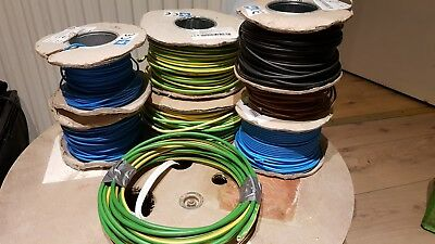 JOBLOT Single Core Earth Cables 6491 x 1.5mm 2.5mm 6mm 10mm Earth Conduit