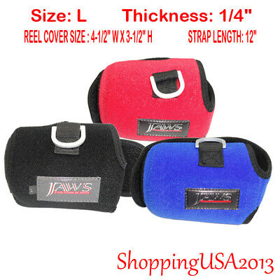 JAWS size L reel cover SHIMANO CALCUTTA TRINIDAD ACCURATE AVET Red Blue Black
