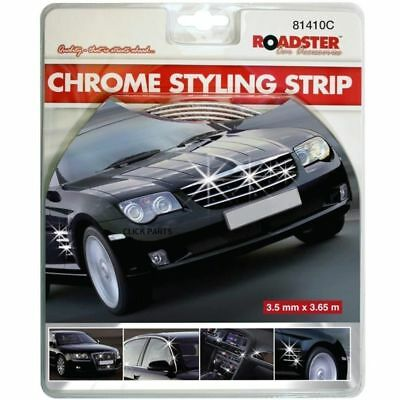 CHROME DETAIL STYLING Self Adhesive Strip Car Edging