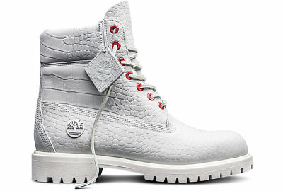 21d16a5efead9 Timberland Men's 6-Inch Premium Waterproof Boots NEW AUTHENTIC White A1P9Q