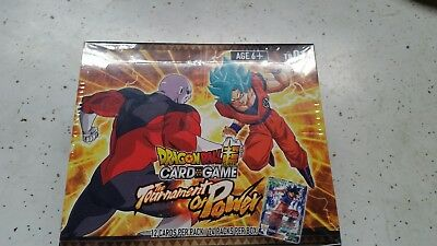 TB01 Dragon Ball Super Card Game Tournament of Power Booster Box, New, Sealed