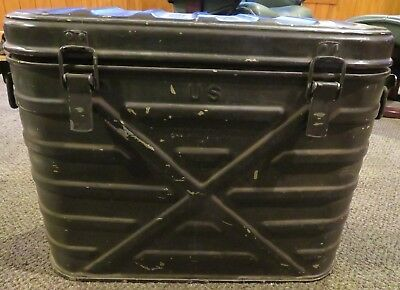 Vintage Military Mermite Aluminum Hot Cold Food Can Cooler Insulated Container