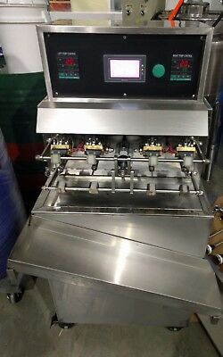 Semi Automatic 4 head Standup Pouch filling machine with heating & stirring tank