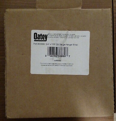 """Oatey Hanger Strap - 28 Gauge - 3/4"""" x 100' - New and Unused - Fast Shipping"""