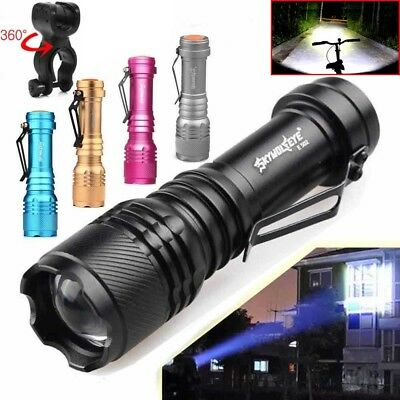 20000LM T6 LED Tactical Flashlight Zoom AA /14500 Mini Torch Light Lamp Holder