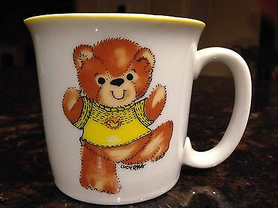Enesco Lucy & Me Kids Coffee Cup Mug, Lucy Rigg, Teddy Bear w/ Balloon Vintage