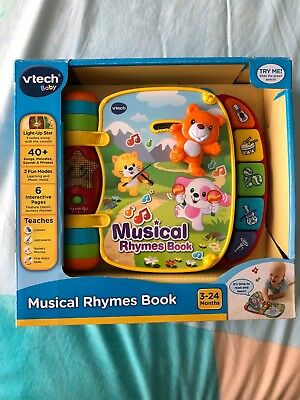BRAND NEW VTech Baby Infant Toy Musical Rhymes Book 3-24months