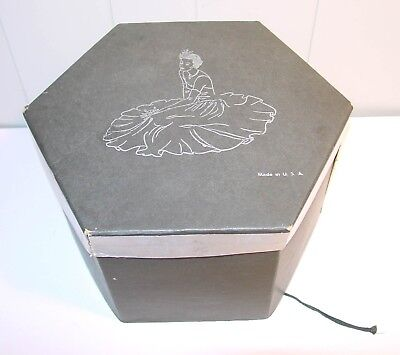 Vintage Hat Box with Woman on Lid Cardboard