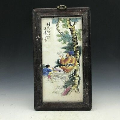 Collection China wooden mural Painting people Hang act the role ofing.   b924