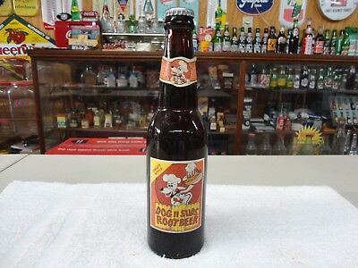 Dogs And Suds Root Beer Paper Label 10 Oz Soda Bottle