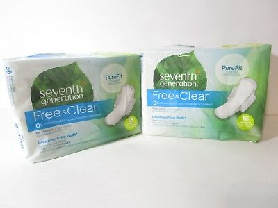 Seventh Generation Pads Super Long Ultra Thin 16 Ct (2 Pack) New, FREE SHIPPING!