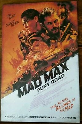 MAD MAX FURY ROAD MOVIE POSTER 1 Sided ORIGINAL Mini Sheet 11x17