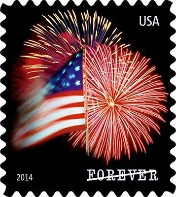 USPS Forever Stamps, Star-Spangled Banner, Roll of 100 (Fireworks) 1 roll