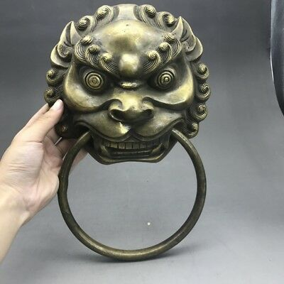 China's ancient pure copper sculpture of door handle ag211