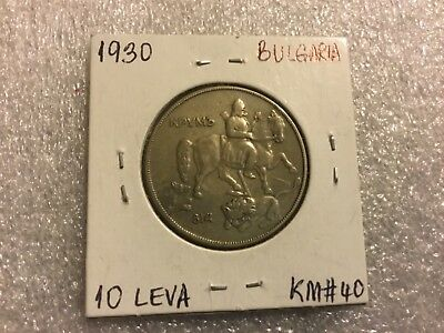 BULGARIA 10 leva 1930 King Boris III, Collectible coin, KM# 40