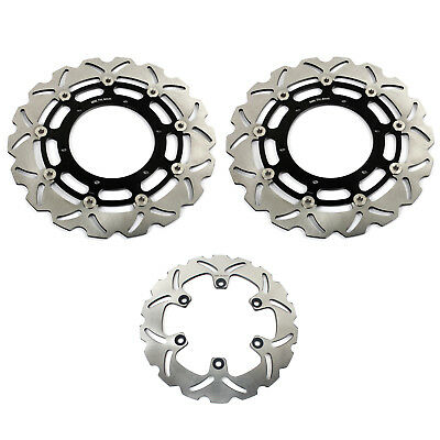 Black Front Rear Brake Discs Rotors set For Yamaha YZF 750 R7 1999 2000 2001