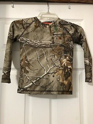 Euc Carhartt Camouflage Long Sleeve Shirt Toddler Boys Size 4T