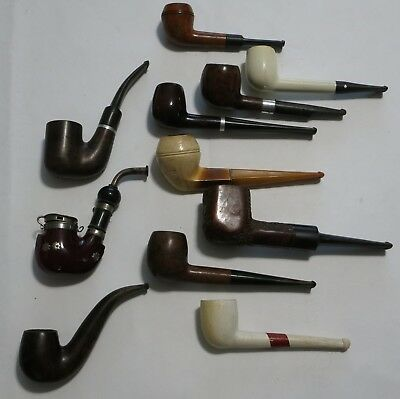 Lot of 11 Vintage Estate Pipes in great shape ready to go Smoking Tobacco