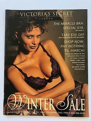 Vintage Victoria's Secret Catalog 1995, cover- Heather Stuart Whyte; orig. owner