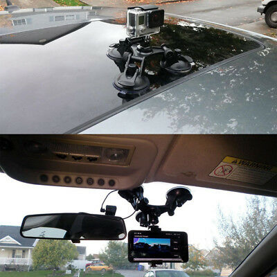 Triple Windshield Car Surfboard Suction Cup Mount Tripod for Gopro Hero 3 3+ 4