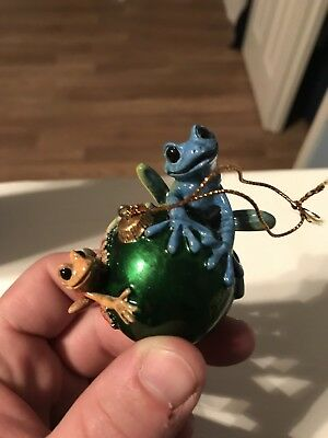 "Kitty's Critters Vintage Christmas Ornament Lookin' for Santa 3"" Tall Mint"
