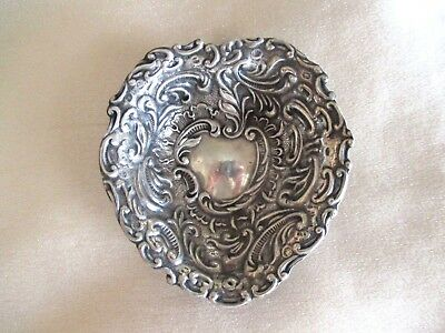 Lovely Antique Sterling Silver Small Heart Dish Birmingham 1899