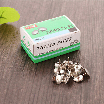 Silver Thumb Tacks Push Pins Round Head Nickel Plated for Office Home & Drawings
