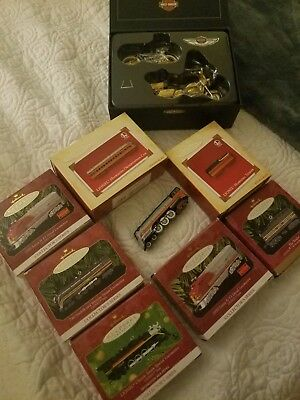 Lot of Hallmark keepsake ornaments Lionel Trains