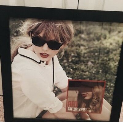 Taylor Swift RED Signed & Framed 12x12 Lithograph 100% Authentic