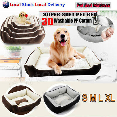 Extra Large Medium Small Pet Bed Mattress Dog Cat Pad Mat Cushion Heavy Duty AU