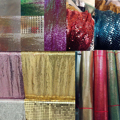 Sparkly Metal Mesh Fabric Chainmail Jewelry Making Metal Mesh Fabric 45*150cm