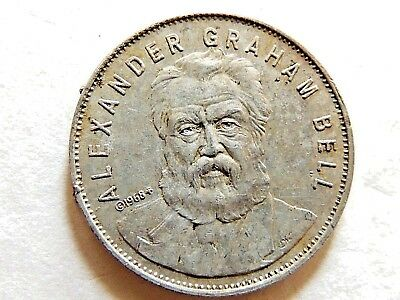 "1968 Classic ""Alexander Graham Bell"" Famous Facts & Faces Shell Gas Game Token"