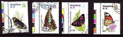 Hong Kong 1979 Butterflies set Used
