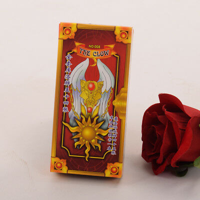 Anime Cardcaptor Sakura Clow Card Red Tarot Cards Deck 56 Cards Set