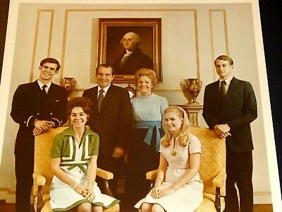 President Richard Nixon Family Portrait Official White House Photo 1972