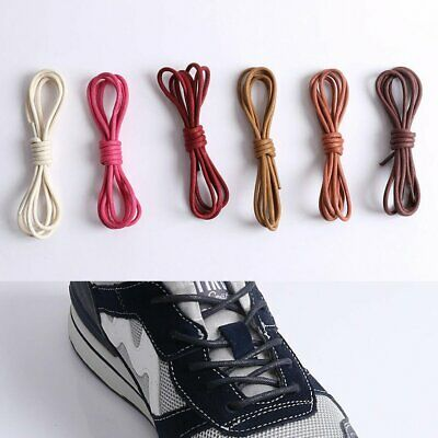 Round Waxed Dress Shoelaces Leather Boot String Sneaker Shoe Laces Cord 60-100cm
