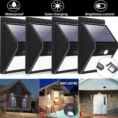 Solar Power PIR Motion Sensor 20-30 LED Gutter Light Outdoor Wall Garden Lamp