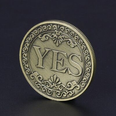 Floral YES / NO Letter Commemorative Coin Collection Arts New Year Gift Souvenir