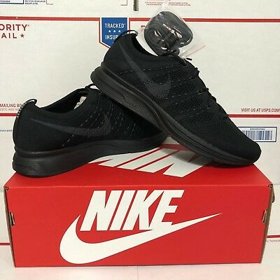 6e41e96fbc4b8 ALL SIZES Nike Flyknit Trainer AH8396-004 Triple Black Running Shoes  Anthracite