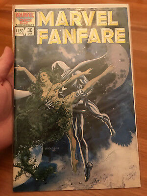 MARVEL FANFARE 30 Brent Anderson painted moon knight cover