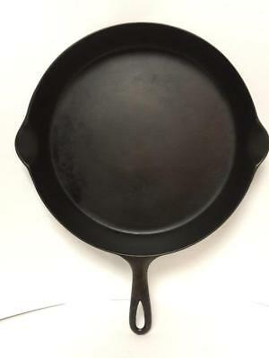 "Antique Restored Level 13"" Lightweight Cast Iron Skillet 4.75 Lbs Heat Ring Vgc!"